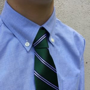 Cotillion boy clothes: Brooks Brothers button-down shirt and silk tie | Alamo City Moms Blog