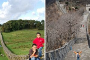 My kids have stood on Hadrian's Wall in the UK and the Great Wall in China.