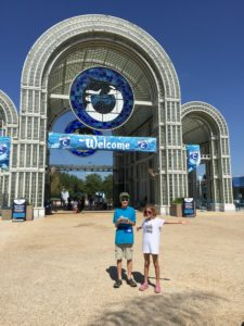 At the entrance to SeaWorld San Antonio | Alamo City Moms Blog