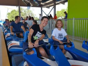 Ready to ride Wave Breaker: The Rescue Coaster at SeaWorld San Antonio | Alamo City Moms Blog