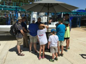 Visiting with SeaWorld rescue team members at Wave Breaker: The Rescue Coaster at SeaWorld San Antonio | Alamo City Moms Blog