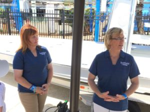 SeaWorld rescue team members at Wave Breaker: The Rescue Coaster at SeaWorld San Antonio   Alamo City Moms Blog