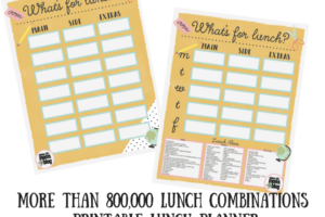 More than 800,000 Lunch Combinations!