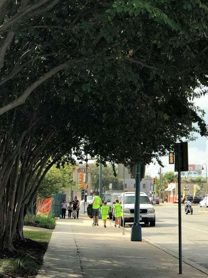South Alamo Street near Hemisfair where Alamo City Moms Blog has an Adopt-A-Spot