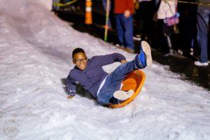 Dickens on Main - ice slide