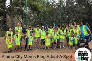 Alamo City Moms Blog Adopt-A-Spot and Park Cleanup at Hemisfair