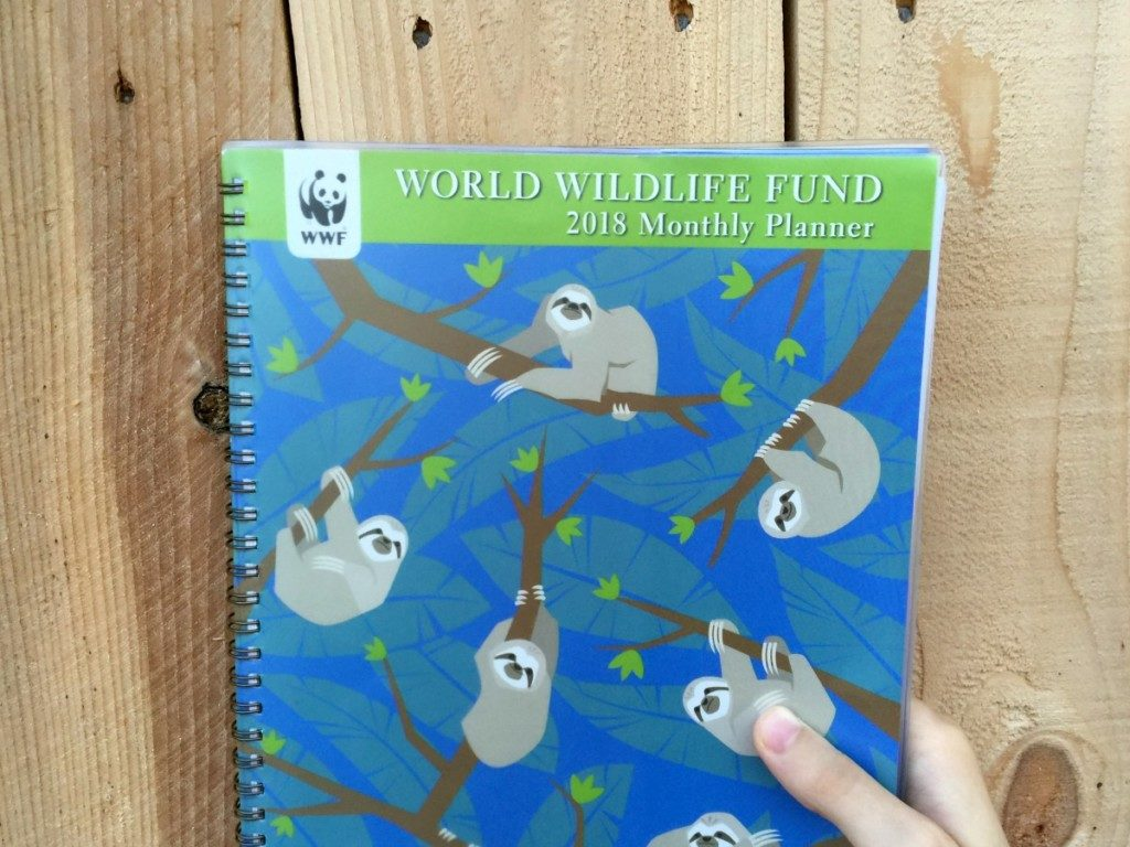 F.T.'s World Wildlife Fund monthly planner, an essential tool for science fair   Alamo City Moms Blog