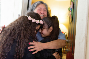 ACMB Cares Meals on Wheels San Antonio hug