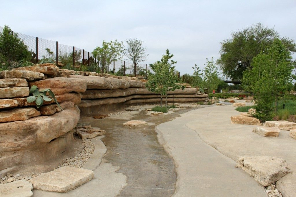 No Name Creek at the Family Adventure Garden at the San Antonio Botanical Garden | Alamo City Moms Blog