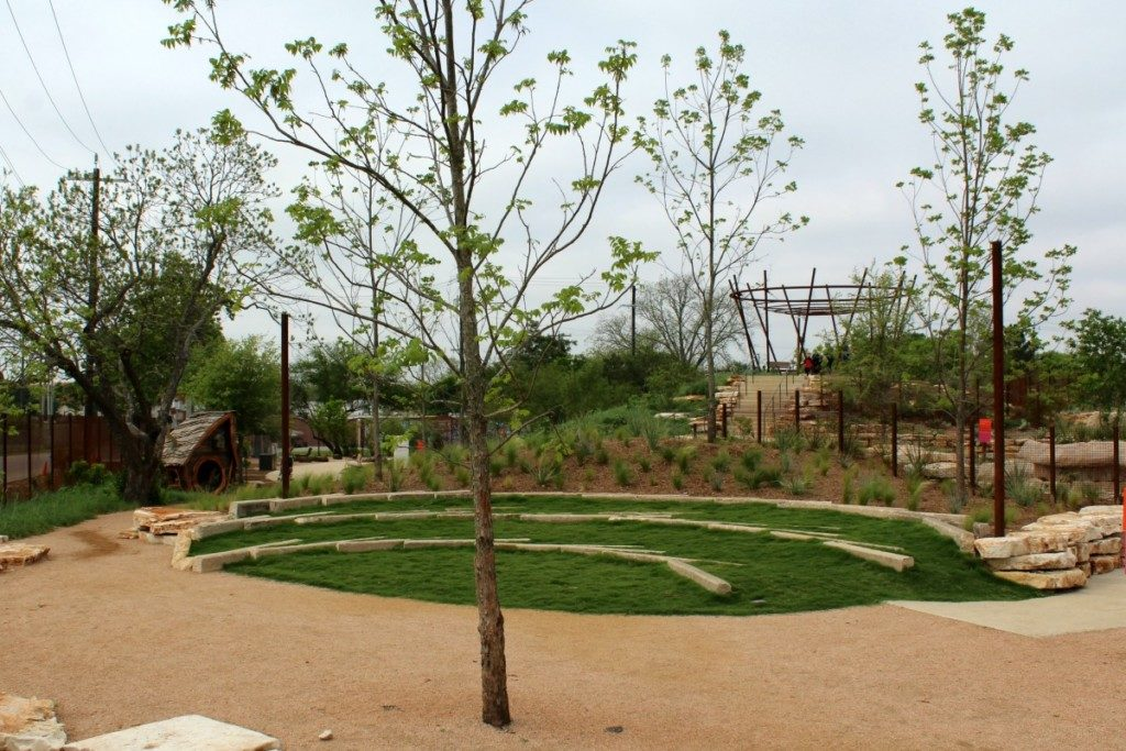 Pecan Grove at the Family Adventure Garden at the San Antonio Botanical Garden | Alamo City Moms Blog