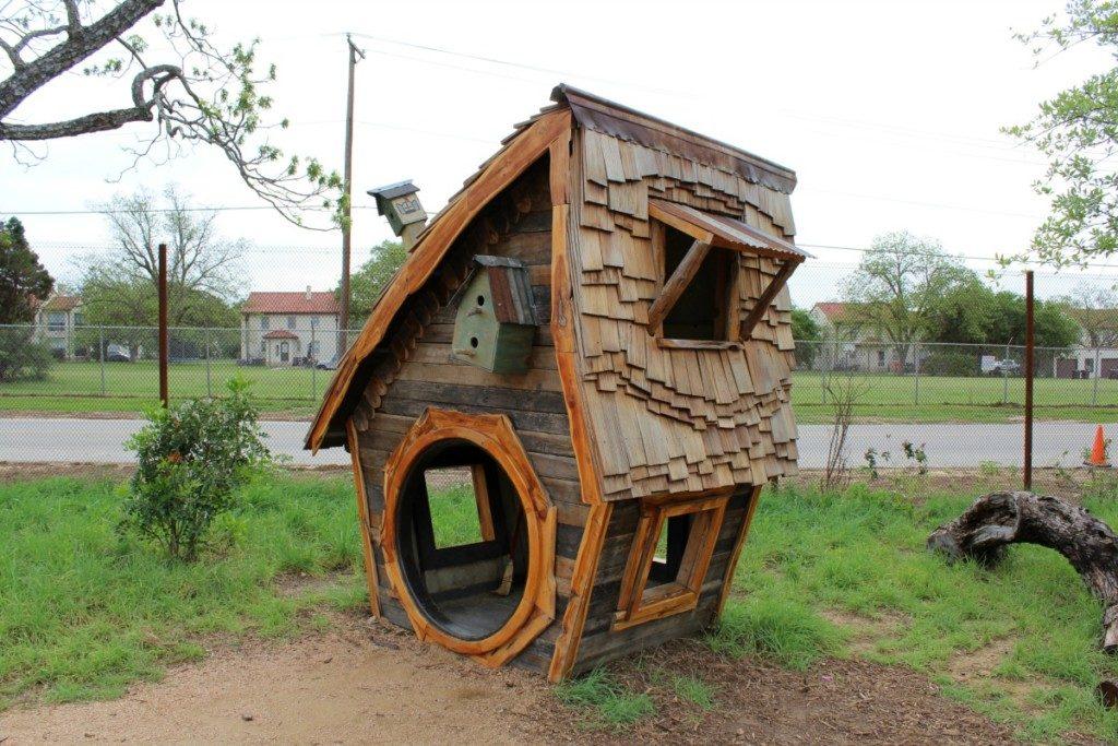 Playhouse at the Family Adventure Garden at the San Antonio Botanical Garden | Alamo City Moms Blog