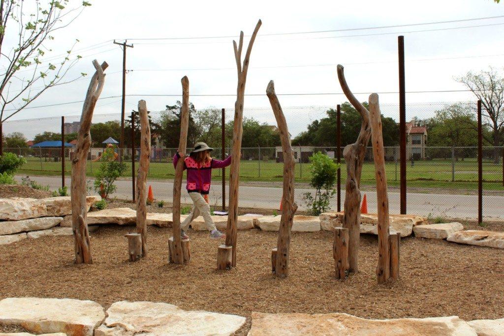Stump Hopper at the Family Adventure Garden at the San Antonio Botanical Garden | Alamo City Moms Blog