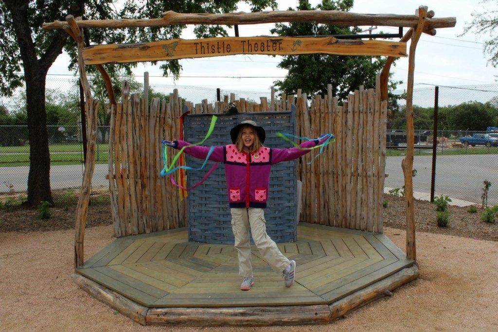 Thistle Theater at the Family Adventure Garden at the San Antonio Botanical Garden | Alamo City Moms Blog