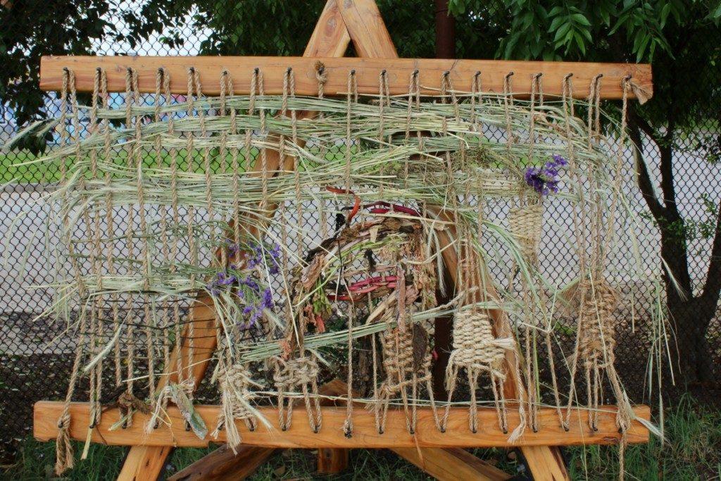 Waving in the Family Adventure Garden at the San Antonio Botanical Garden | Alamo City Moms Blog