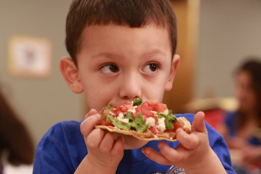 Eating the results at a cooking class with CHEF Culinary Health Education for Families | Alamo City Moms Blog
