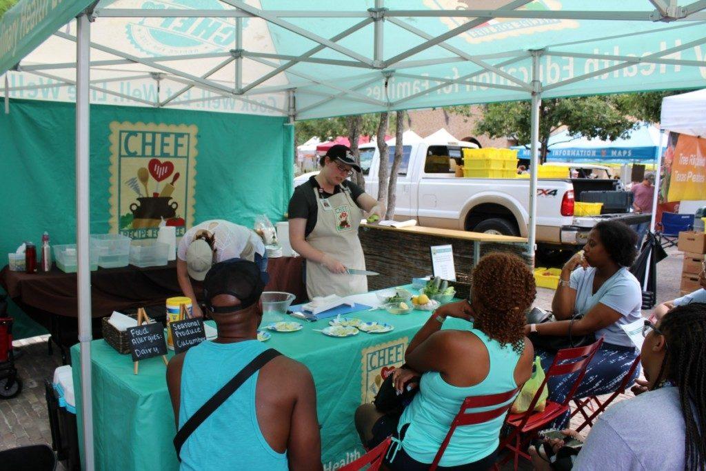 CHEF demonstration tent at the Pearl Farmer's Market in San Antonio, Texas Alamo City Moms Blog