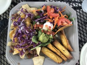 vegan botanas platter at Viva Vegeria