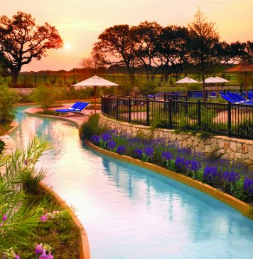 View of lazy river at san antonio jw mariott