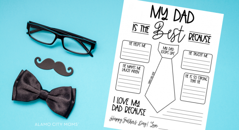 Father's Day Printable (for Grandpa, Papa and Granddad, too!)