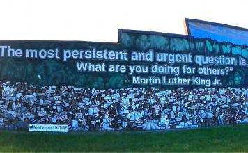 MLK Jr mural in San Antonio